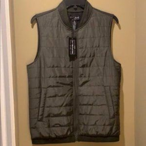 For the Republic Olive Green Zip-Up Vest NWT Small